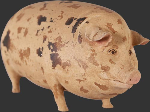 Gloucester Old Spot Pig Statue - Small