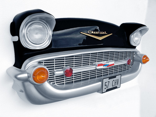 Black Chevy Front Wall Decor