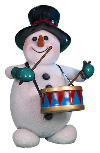 Snowman with Drums Statue