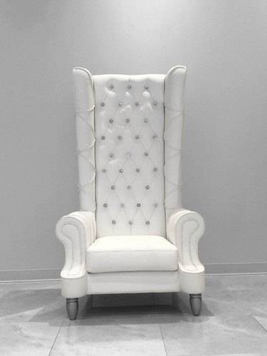 Baroque High back white chair