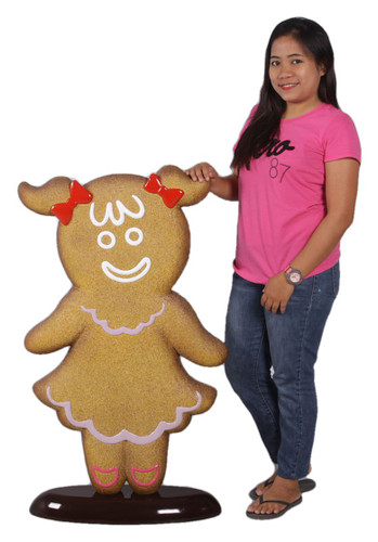 Gingerbread Girl Statue 3.5FT Christmas Decor