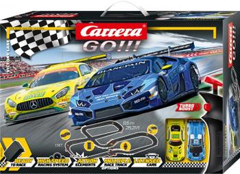 Carrera GO Victory Lane slot car set 20062522