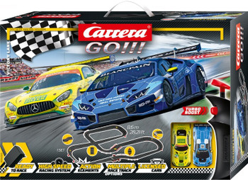 Carrera GO Victory Lane slot car set 20062522