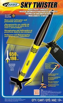 Estes Sky Twister model rocket launch set 1438
