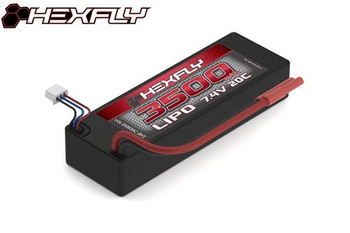 HEXFLY 2S 7.4V 3500 mAh 20C hard case LiPo battery
