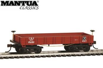 Mantua Classics HO Chicago & Southern 1860 wooden coal gondola