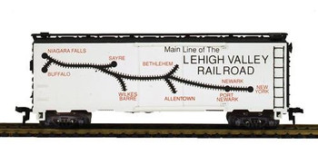 Mantua Classics HO LV Route Map 41' steel refrigerator car