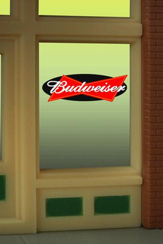 Miller Engineering Budweiser animated window sign 8815