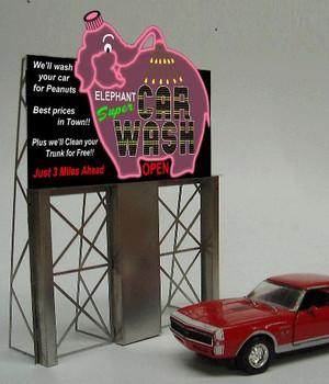 Miller Engineering Car Wash animated billboard 8381