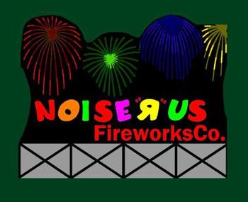 Miller Engineering Noise-R-Us Fireworks animated billboard 9781