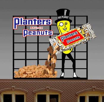 Miller Engineering Planters Peanuts animated billboard 7061