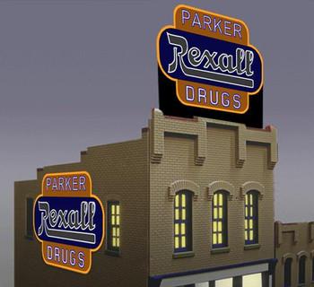 Miller Engineering Rexall Drugs animated billboard 7582