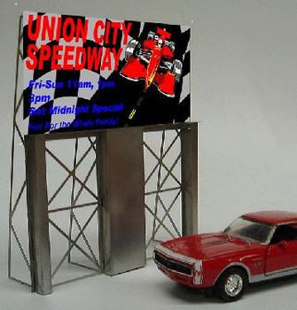 Miller Engineering Union City Speedway animated billboard 8481