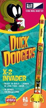 MPC Duck Dodgers X-2 Invader flying model rocket kit