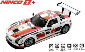 NINCO 1 PLUS Mercedes SLS GT3 Team Holland 1:32 Slot Car 55053