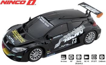 NINCO 1 Renault Megane Trophy Racing Black 1/32 Slot Car 55055