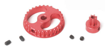 Ninco XLOT Aluminum Gear Set 30T/7T - Red 61203