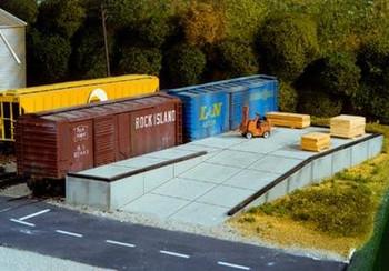 Pikestuff HO scale modular loading docks kit 541-0017