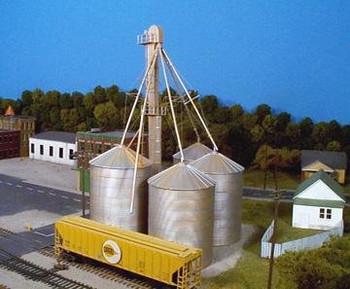 Rix HO scale grain elevator kit 628-0407
