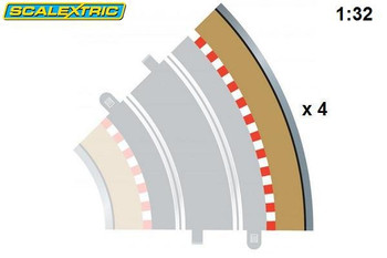 Scalextric R2 45 degree outer curve border C8228