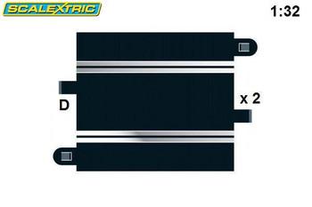Scalextric 175mm half straight track C8207