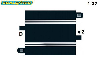 Scalextric 175mm half straight track C8207