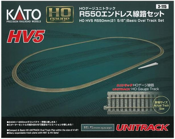 KATO Unitrack HO HV5 basic oval track set 3-115