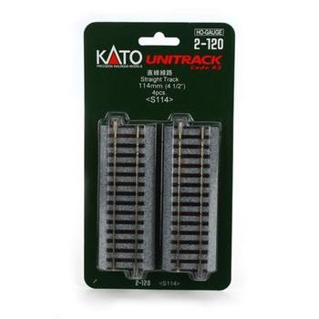 KATO Unitrack 4 1/2 inch HO scale straight track 2-120