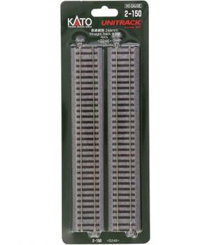 KATO Unitrack HO 9 3/4 inch straight track (4) 2-150