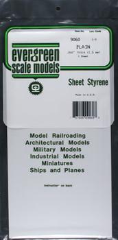 Evergreen #9060 .060'' Thick Styrene Sheet - 1 sheet