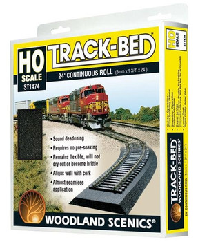 Woodland Scenics Track-Bed 24 foot roll HO scale ST1474