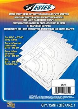 Estes BT5-BT60 laser cut centering rings & paper adapters 3179