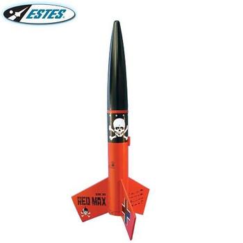 Estes Der Red Max flying model rocket kit 0651