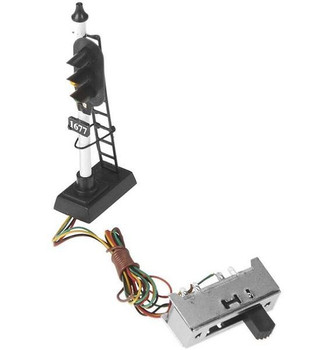 Model Power 3 light HO scale block signal 1677-1