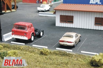 BLMA HO scale concrete automobile car stops