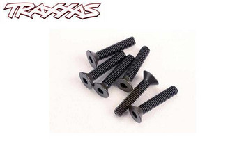 Traxxas 3 x 15 mm flat head machine screws 2553