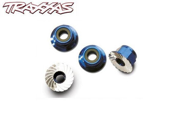 Traxxas 4mm aluminum flanges wheel nuts 1747R
