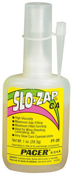 Pacer SLO-ZAP CA thick super glue bottle PT-20