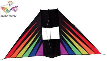 Rainbow Burst 6' conyne delta kite