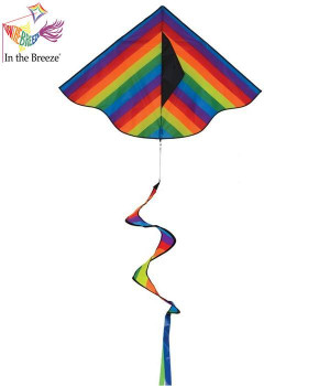 Rainbow Stripe Delta Kite