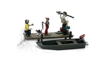 Woodland Scenics family fishing HO scale A1923