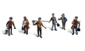 Woodland Scenics Miners HO scale figures A1933