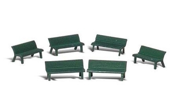 Woodland Scenics park benches HO scale A1879