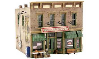 Woodland Scenics Fresh Market Pre-Fab HO scale building kit