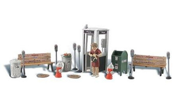 Woodland Scenics street accessories HO scale A1941