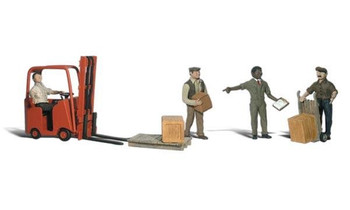 Woodland Scenics workers with forklift HO scale A1911