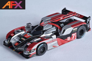 AFX Mega-G+ Audi R18 silver HO scale slot car 22006