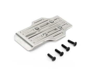 Redcat Racing CNC machined stainless rear chassis guard for the RC-MT10E 4x4 1/10 RC monster truck