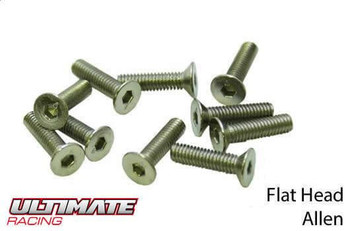 Ultimate Racing flat head machine screws