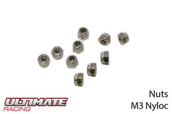Ultimate Racing M3 nylon locknuts